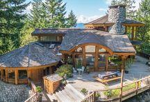 Rustic Mountain Log House