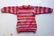 Créations Layette et Enfant / Toutes les créations de laine fait main, au tricot ou au crochet, autour des bébés et des enfants