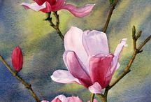 oleos flores