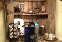Home: Coffee Station / Create a welcoming coffee station and beverage bar easily in your own home, with these ideas.
