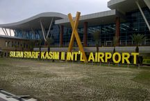Airport / Behind those gigantic alphabet you can find local delicacies. Serambi cafe and kopi tua.