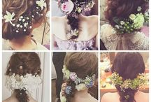 wedding髪型 小物