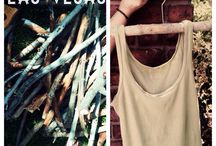 Upcycled Tree branch hangers from Modo Yoga Las Vegas / Tree branch hangers