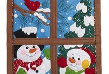 Pendones Navidad en patchwork