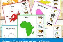 Preschool-continents