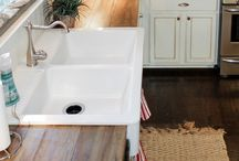 Faux Butcherblock Countertops