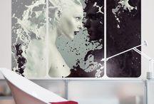 """Black & White / #Gegensätze ziehen sich an? Das glauben wir auch! Mit unserer #Black and #White Collection möchten wir allen Farb-Phobikern eine stylische Alternative bieten. Schwarz-#weiß ist der Klassiker unter den """"Farbkombinationen"""" und lässt dein Zuhause immer im perfekten Licht erscheinen. #Möbel #Wandbilder #Raumteiler #blackandwhite #schwarzweiß"""
