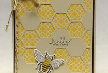 stampin up hexagon hive thinlets