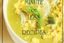 30 -  Minute or Less Recipes / Easy recipes for healthy soups and sides ready in 30 minutes or less: http://www.fromgardentosoupbowl.com/30-minutes-or-less-recipes.html