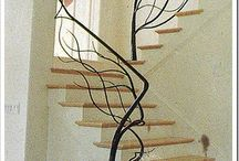 Stair case hand rail ideas