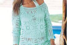 Háčkované halenky, svetry, ...