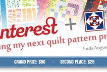 """Pinning my next quilt pattern project / QuiltersWarehouse is running our first Pinterest promotion called """"Pinning my next quilt pattern project""""  This board is an example of what could be used on your board"""
