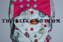 All in One Nappies / Available on our website www.thegeekybottom.com