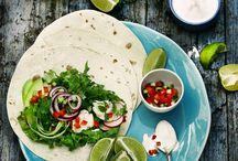 Mexican food mood board