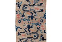 dragons - depictions in antique rugs and textiles / Mystic creatures from ancient China and beyond - creatures for lovers of Asian art and creative inspiration