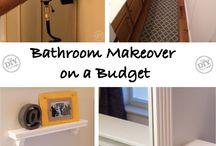 bathroom makeover on a budget / by Sanna Davis