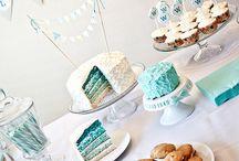 Dessert table - James' 1st birthday tea