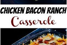 CHICKEN AND BACON RANCH CASSEROLE