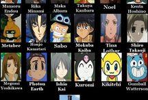 Anime⇨Voice actors