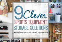 Sports etc storage sols