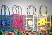 tašky s plastových fliaš