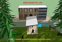 Tensile Structures in Chhattisgarh / Ekra Decor - Established in the year 1998, are well known by its name in the field of design and construction of Tensile structure, Parking Shades, Polycarbonate Structure, Domes, Gazebo, Tensile membrane structures. Now we registered as a EKRA DECOR in Gurgaon, New Delhi, India.