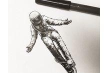 Tattoo astronauta