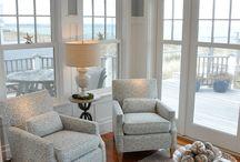 Beach style living room / by Modern Age Designs, LLC