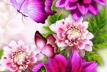 цветы 3 Д