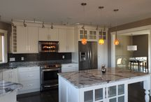 TRANSITIONAL STYLE NEW KITCHEN RENOVATION / New kitchen renovation - shaker style cabinetry-Cambria Seagrove Quartz counters