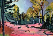[1899 - 1908] Fauvism / Fauvism is the style of les Fauves, a loose group of early twentieth-century modern artists whose works emphasized painterly qualities and strong color over the representational or realistic values retained by Impressionism.