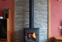 Log burner Wall