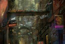 Dark/Cyberpunks cities