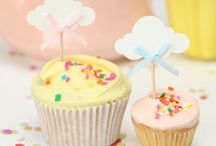 Cupcake Toppers. Girls. / Glamorous Cupcake Toppers for extra wow factor at your party.