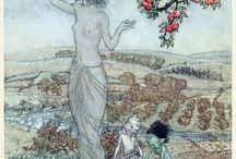 Arthur Rackham - ill. for A Dish of Apples - 1921