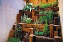 slanted garden ideas