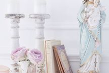 Shabby chic Mother Mary and Jesus