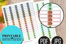 Bitchy Chicken Planner Printables