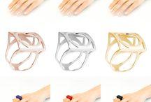 CHROMATIC (Stilnest) / Anillos intercambiables. Plata + Poliamida. Acabado brillo. Diseño Nuria Parrado Sarandeses. Fabricación en Alemania.