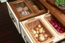 Storage and Organization Solutions / Whether in a kitchen or bathroom, organization is key!