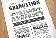 Graduation announcement ideas  / these are ideas for my graduation announcements.  I decided against a party. / by Christy Witherspoon