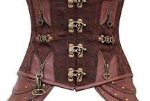 Women's Steampunk Underbust Corsets / It is well documented that an underbust corset is an elegant and well established steampunk look. Whether paired with an elegant dress or top, or wearing it casually out on the town, the womens steampunk underbust corset is a perfect addition to most ladies steampunk outfits. Take the time to enjoy our selection of steel-boned corsets in styles such as satin underbust corsets, brocade underbust corsets, leather under bust corsets, and many more selections.