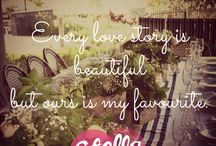 Love / Loved up quotes by Stella Weddings!