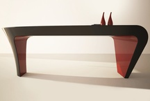 DESK DESIGN / ASHE  / Office desks of ZAD DESIGN are unique design objects that combine originality, functionality and customization. In addition, all desks are made in one piece monocoque. You can customize your desktop with any color to be (even more than one) or logo. TOP DESIGN MADE IN ITALY