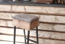 deBUCK Barstool / deBUCK barstool was inspired by vintage gym stools combining leather and wood. Made by INDUSTREAL Design Studio.