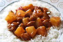 rijst met kip en ananas.lekker en simpel.