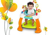 Bright Starts Bounce Bounce Baby / Bright Starts Bounce Bounce Baby is a multi-functional activity station that is filled with various toys, and functions as a bouncing mat when the baby jumps on it. This toy has come as a lifesaver to me because not only is my child now happier, but I'm also relieved from stress.