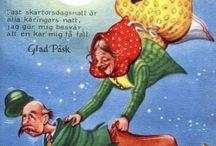 påskkärringar vykort