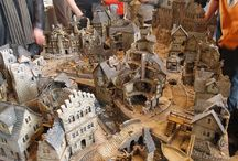 Mordheim-Ruined cityscape / A collection of inspirational images depicting large scale Mordheim buildings (all the ruined houses etc.).