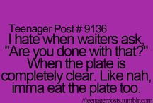 Teenager post and true / Teenager post